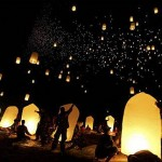 Sky lanterns from wish lanterns perfect for any party.